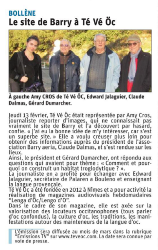 Barry te ve oc la provence 16 fev 20