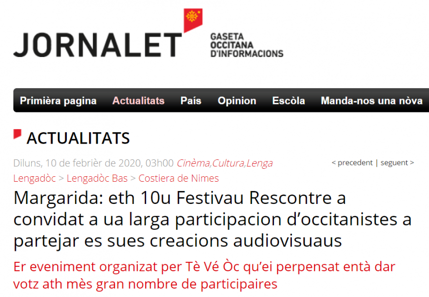 Jornalet rescontre